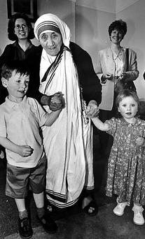 Mother Teresa of Calcutta with Gerard and Maria Riney
