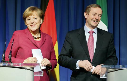 German Chancellor Angela Merkel and Taoiseach Enda Kenny