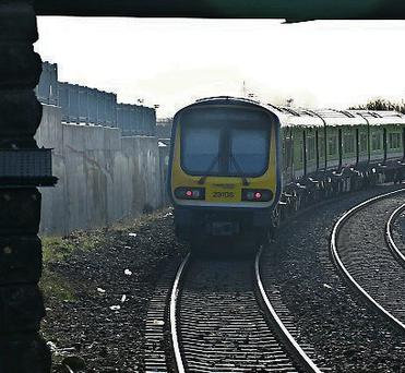 Leixlip Louisa Bridge station, where the incident took place