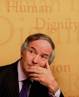 PATIENT: Former Governor of Mountjoy and Portlaoise prisons John Lonergan does not accept the common reaction to horrible crimes that brands people 'evil' and believes good can be found in even the worst criminals. Photo: Steve Humphreys