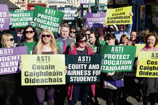 Teachers from ASTI secondary schools St Jarlath's College, Presentation College and St Brigid's Secondary School, Tuam