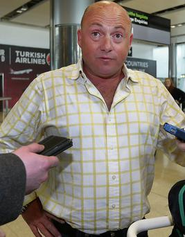Dave Mahon at Dublin Airport. Photo: Steve Humphreys