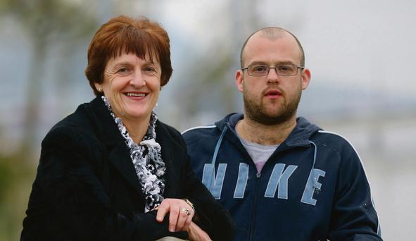 Mary Henderson from Waterford with her son George. Photo: Patrick Browne