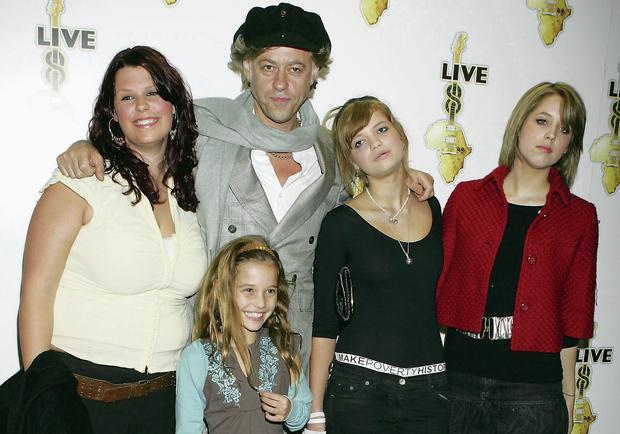 Bob Geldof with daughters Fifi, Tiger-Lily, Pixie and Peaches
