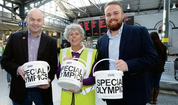 Dublin hurling manager Anthony Daly; Rita Lawlor, Special Olympics athlete; and golfer Shane Lowry. Picture: Caroline Quinn