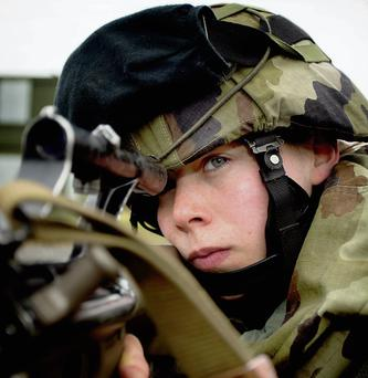 SERVING THE COUNTRY: Army recruit Aisling Byrne has wanted a military career since she was a young girl