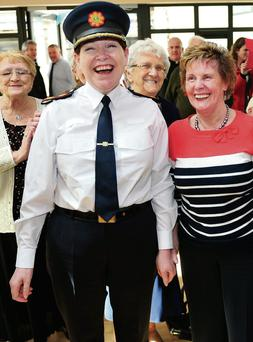 Acting Garda Commissioner Norin O'Sullivan meets her namesake during a visit to Knocknaheeny Community Centre, Cork by Daragh Mc Sweeney
