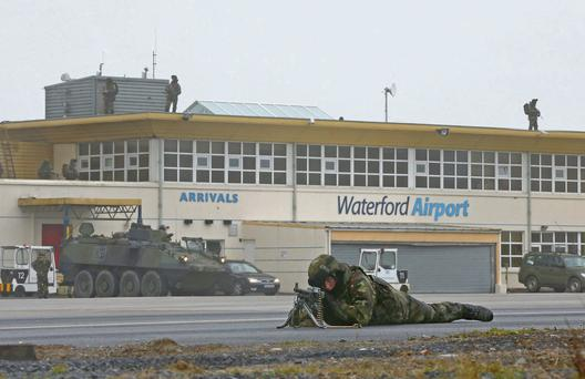 Defence Forces training in Waterford last week.