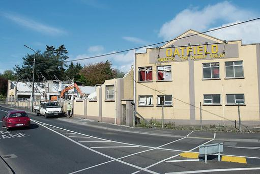 The iconic Oatfield Factory in Letterkenny a part of local history being demolished. Photo Clive Wasson