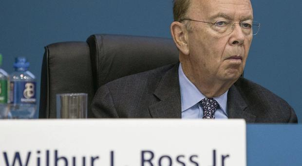 US billionaire Wilbur Ross at the Bank of Ireland AGM. Picture: Mark Condren