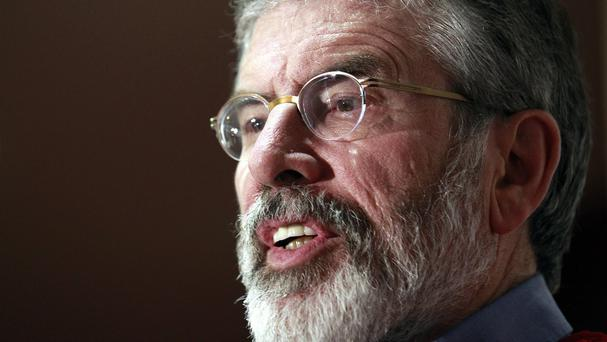 Gerry Adams is being questioned by detectives investigating the murder of Belfast mother-of-10 Jean McConville