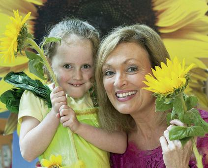 RTE's Mary Kennedy with Saoirse Martin (5), from Blessington, Co Wicklow Peter Houlihan / Fennells