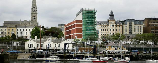 MONSTROSITY: Objectors see the modernist building on Dun Laoghaire's Victorian seafront as a symbol of the squandering of taxpayers' money. Photo: Gerry Mooney