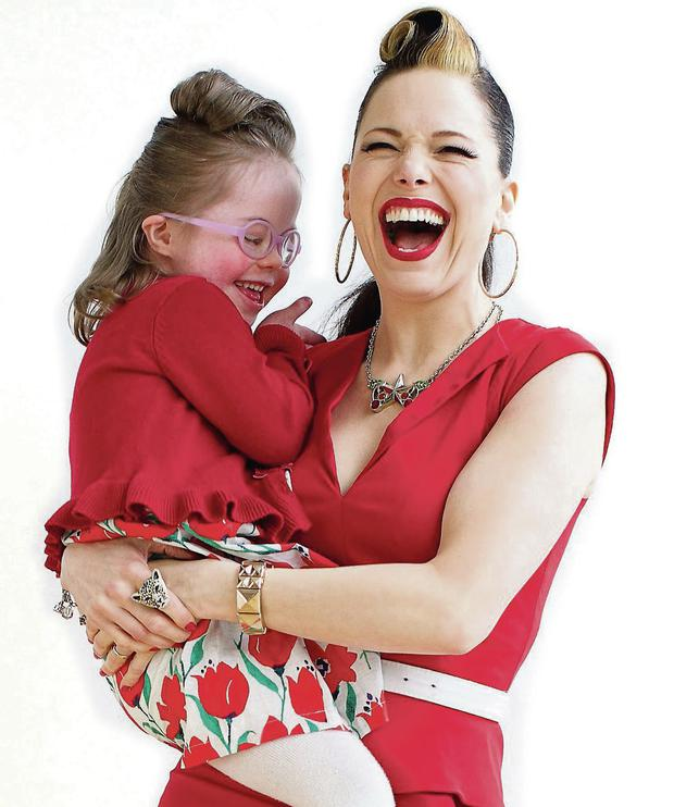 Imelda May and six year old Ava Leahy. Photo@ Patrick Bolger