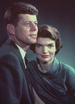 President Kennedy and wife Jackie