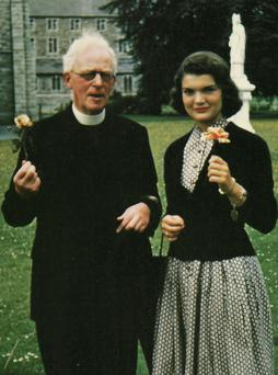 Fr Joseph Leonard and Jackie Kennedy