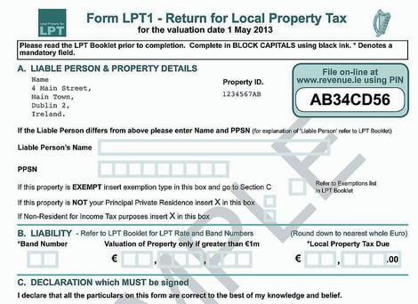 The new property tax form