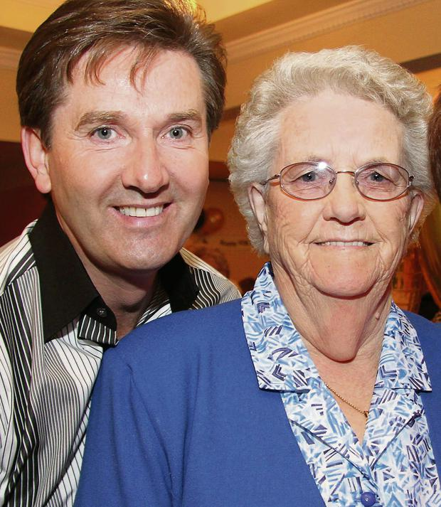 The late Julia O'Donnell with her son Daniel.