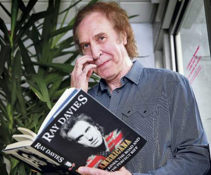 Kinks legend Ray Davies with his new book, which he discussed at the National Concert Hall.