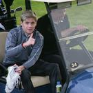 Niall Horan and Brian O'Driscoll enjoy a round of golf at the K Club