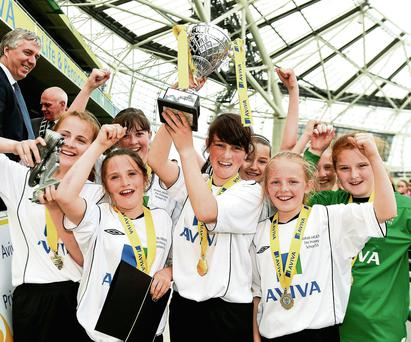 The victorious Scoil Cholmcille team from Inishowen, Co Donegal