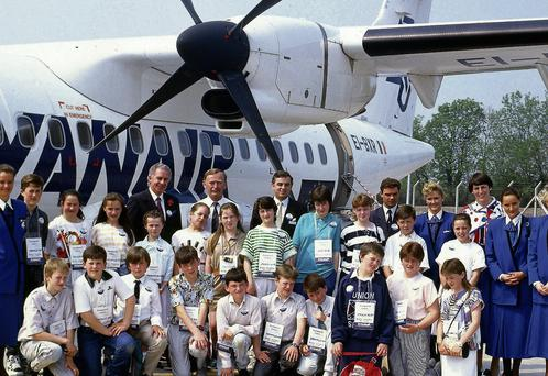 Martina Callaghan O'Meara was part of a school group that flew on the inaugural flight from Kerry to Luton in May 1989