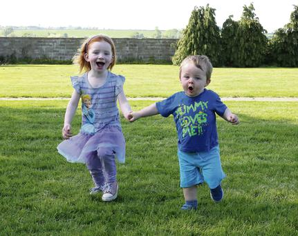Cousins Emily Kearon aged 3 years from Courtown and Jack Kearon aged 18 months from Gorey. Photo: Mary Browne