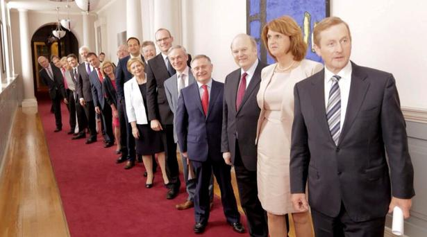 Enda Kenny, Joan Burton and the Cabinet
