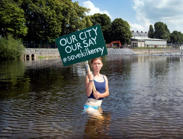 The protest in Kilkenny over the construction of a new bridge