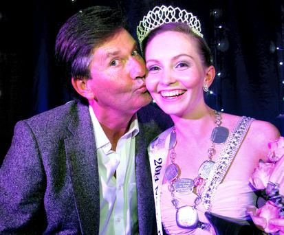 Daniel O'Donnell for the 2014 Mary from Dungloe winner Kate Lindsay at the crowning cabaret in Dungloe