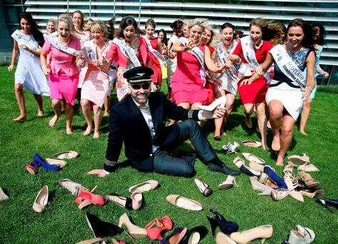 """Right, now, Daithi, you sit there and girls - you run at your shoes, which for some reason are on the ground and not on your feet"""