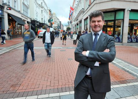 Richard Guiney, CEO of Dublin city business improvement district pictured on Grafton Street