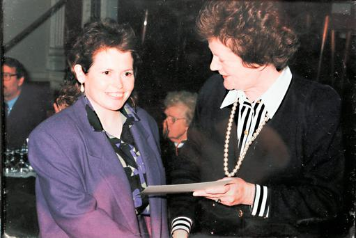 Patricia Brennan pictured with Former FF Minister Mary O'Rourke.