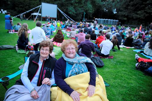 Robin Williams fans at a special memorial film showing in Dublin.