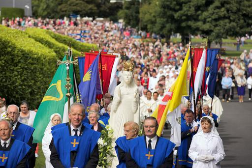 A procession during the annual Novena at Knock Shrine, Co. Mayo