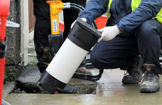 Water meters being installed in Oakpark, Tralee, Co Kerry last year