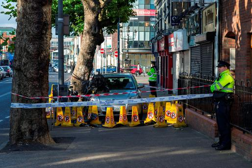 The scene of the stabbing on North Strand, Dublin 1.