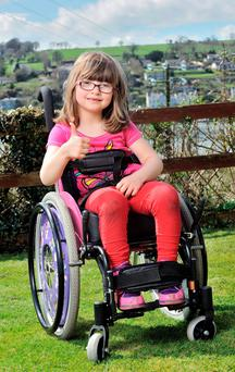 Katie was able to undergo the operation after a flood of public donations following an article in the Irish Independent