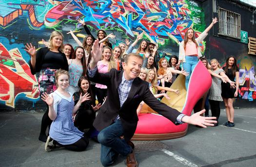 Alan Hughes at auditions for Cinderella