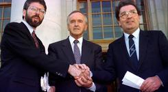 Gerry Adams, Albert Reynolds and John Hume