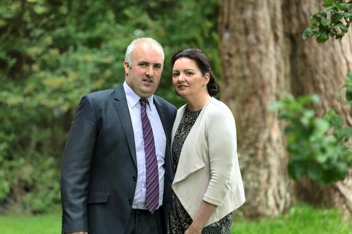 Brian and Norma Rohan organisers of Embrace Farm Accident Remembrance Service pictured at the National Conference on Farm Safety and Health at the Newpark Hotel in Kilkenny.