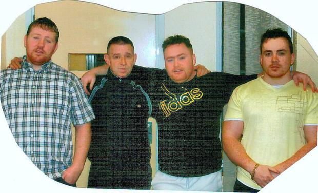 Left to right: John Dundon with his father Kenneth Dundon and brothers Wayne Dundon and Dessie Dundon.