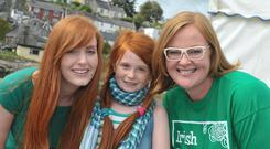 Pictured at the 2014 Irish Redhead Convention in Crosshaven is local redhead Libby Ryan from Minane Bridge with Jessica Shailes, England and Clodagh Monks, Crosshaven