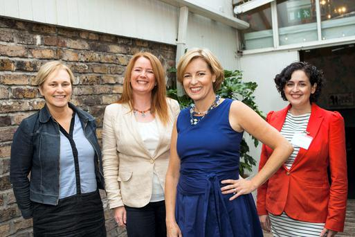 Deirdre Waldron, Network Ireland, Ciara Conlon. President Network Dublin, Margaret E. Ward, journalist and founder of Clear Ink and Broadly Speaking and Olwen Dawe Vice President Network Ireland, pictured at the Network Dublin August Event.