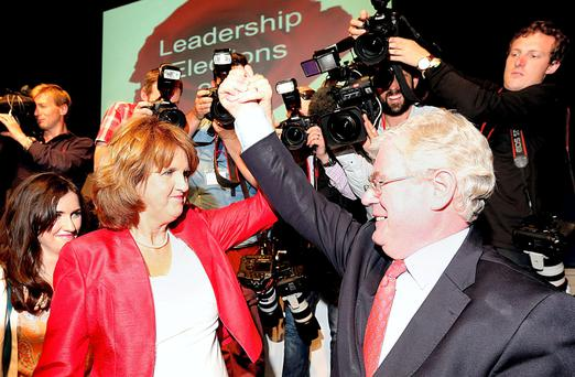 Eamon Gilmore and Joan Burton