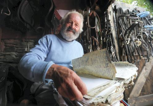 Matchmaker Willie Daly pictuare at home near Ennistymon, Clare as he does his final preperations in matchin singletons up before the Match Making Frestival kkicks off this Friday in Lisdoonvarna, Clare.