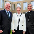Papal Nuncio Charles Brown and Former Taoiseach John Bruton with Sister Maureen O'Malley