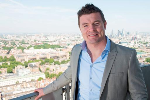 Brian O'Driscoll at the BT Sport studio in London.