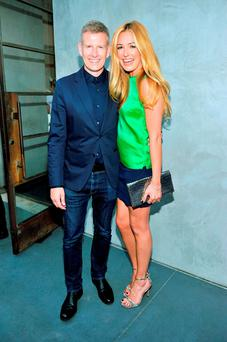 Dior And Maxfield Celebrate The Launch Of Winter 2014 Dior Fusion Sneaker Collection With A Cocktail Party...LOS ANGELES, CA - JULY 15: TV personalites Patrick Kielty (L) and Cat Deeley attend Dior and Maxfield Celebrate the Launch of Winter 2014 Dior Fusion Sneaker Collection with a Cocktail Party at Maxfield on July 15, 2014 in Los Angeles, California. (Photo by Donato Sardella/WireImage)...E