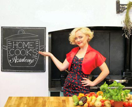Angeline Ball pictured promoting Home Cook's Academy, sponsored by Tesco Ireland and safefood